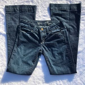 American Eagle flare leg jeans embroidered sz6